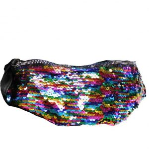rainbow sequin bumbag