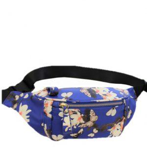 blue floral bumbag
