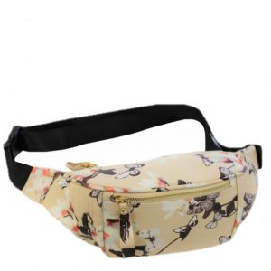 champagne floral bumbag