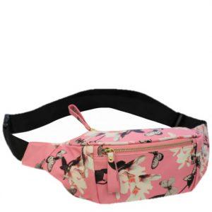 pink floral bumbag