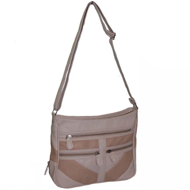 beige PU patch bag - bagzone.co.uk