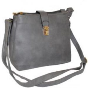 grey shoulder handbag