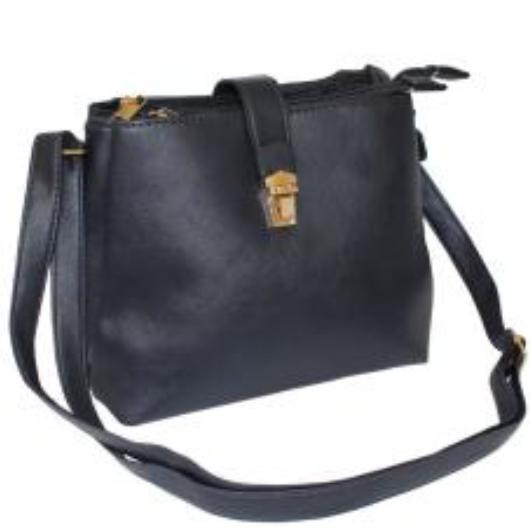 Navy shoulder handbag