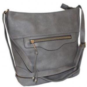 grey bucket handbag