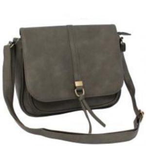 Grey Flap Over Handbag