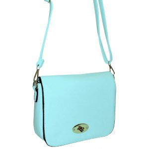 blue flapover bag