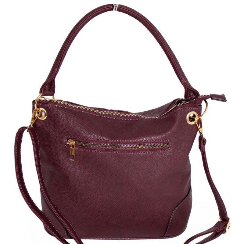 wine metal zip pocket handbag