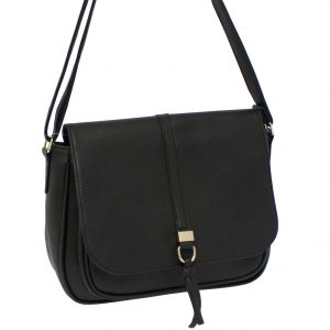 Black Flapover bag
