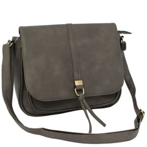Grey Flapover bag