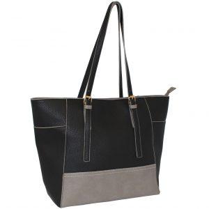 black-grey tote bag