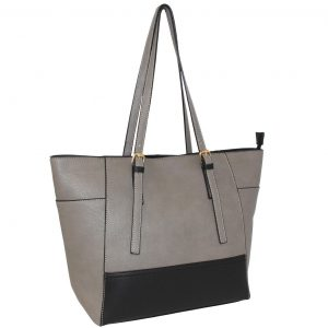 Grey-Black tote bag