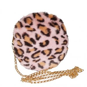 pink animal fur bag