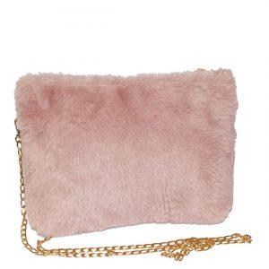 pink animal fur bag