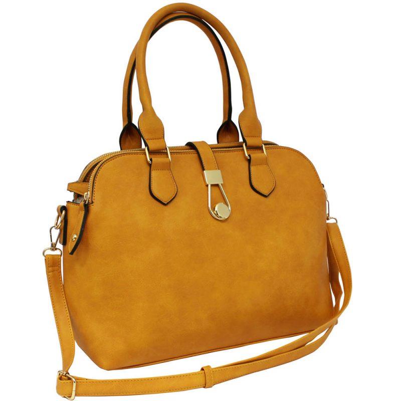 mustard twin handle shoulder bag